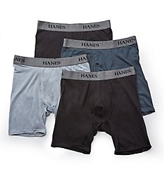 Hanes Stretch Assorted Boxer Briefs - 4 Pack U9BBB4