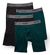 Hanes Stretch Long Leg Assorted Boxer Briefs - 4 Pack U9BLA4