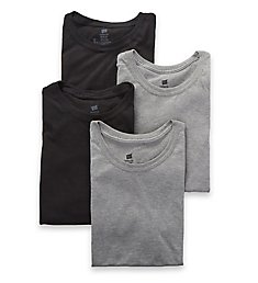 Hanes Ultimate ComfortFit Crew Neck T-Shirts - 4 Pack UFT1W4