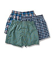 Hanes Millennial Tailored Back Seam Woven Boxer - 3 Pack UTHXQ3