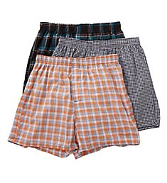 Hanes Millennial Tailored Back Seam Woven Boxer - 3 Pack UTHXY3