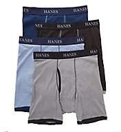 Hanes Platinum Ringer Boxer Brief - 4 Pack Y694R4