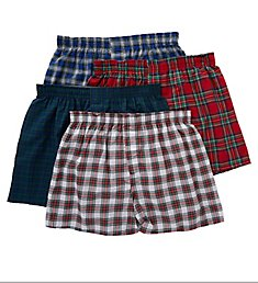 Hanes Platinum Assorted Tartan Boxers - 4 Pack Y745P4