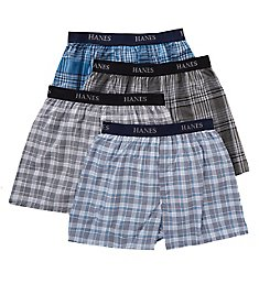 Hanes Platinum Assorted Plaid Boxers - 4 Pack Y798P4