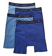 Hanes X-TEMP Combed Cotton Long-leg Boxer Brief - 4 Pack YXBLA4