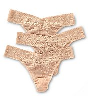 Hanky Panky Signature Lace Original Rise Thongs - 3 Pack 48113PK