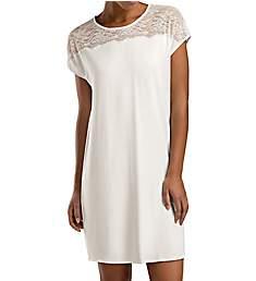 Hanro Greta Short Sleeve Lace Gown 76007