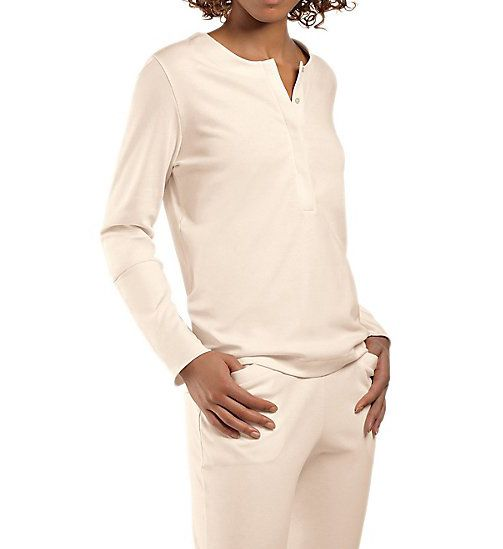 Hanro Alice Brushed Back Mercerized Cotton Pajama 76053