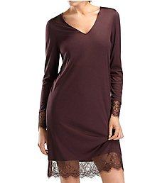 Hanro Estelle Long Sleeve Lace Trim Gown 76272