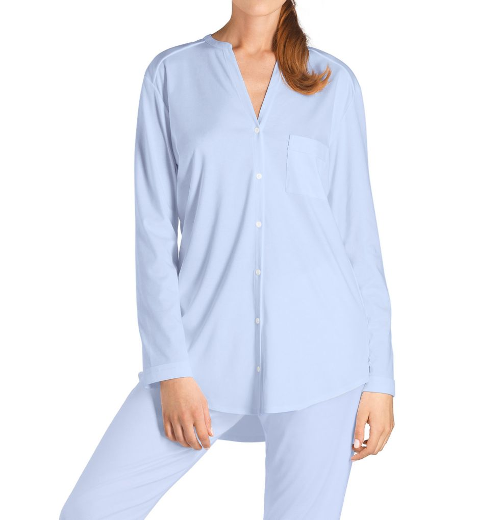 Hanro Pure Essence Long Sleeve Button Front Pajama 77949
