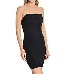 InstantFigure Strapless Tube Slip Dress with Clear Bra Straps WTS034