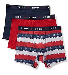Izod Saltwater Cotton Stretch Boxer Briefs - 3 Pack 191WB12RS