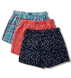 Izod Saltwater Woven Boxers - 3 Pack 191WB15RS