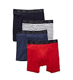 Jockey Active Blend Tag Free Midway Boxer Briefs - 4 Pack 9066