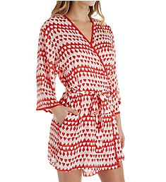 Kate Spade New York Hearts Crinkle Chiffon Robe 5041473