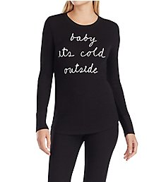 Kate Spade New York Graphic Baby Its Cold Outside Thermal PJ Set 5071455