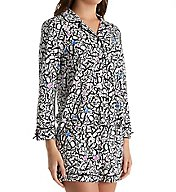 Kate Spade New York 3/4 Sleeve Short Button Up PJ Set 5091311