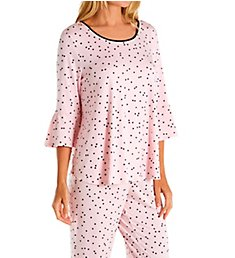 Kate Spade New York Classic Evergreen Long PJ Set KS01506