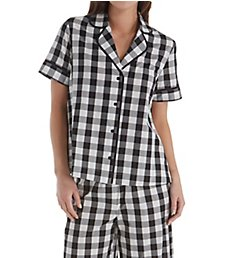 Kate Spade New York Summer Check Cropped PJ Set KS01561