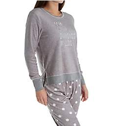 Kate Spade New York Dear Santa Stretch Velour Jogger PJ Set KS01655