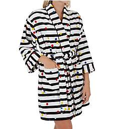 Kate Spade New York Party Dot Plush Short Robe KS41653