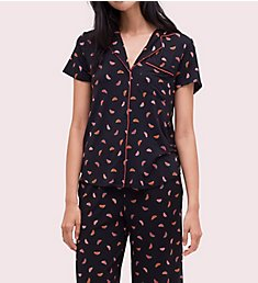 Kate Spade New York Ditsy Watermelon Cropped PJ Set KS91762