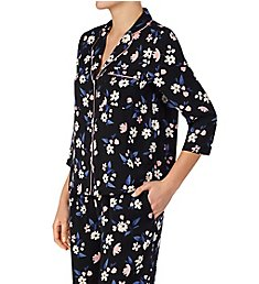 Kate Spade New York Bouquet Toss Charmeuse Cropped PJ Set KS91970