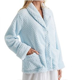 La Cera 100% Polyester Honeycomb Fleece Bed Jacket 8825