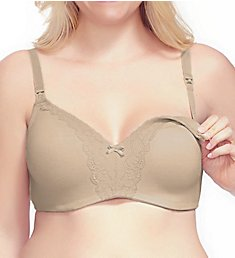 La Leche League Heavenly Wireless Padded Nursing Bra with Lace 4502