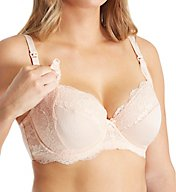 La Leche League Lace and Jacquard Full Coverage Nursing Bra 4555