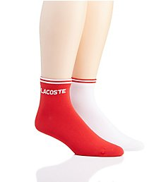 Lacoste Jacquard Jersey Low Cut Tennis Socks - 2 Pack RA8495