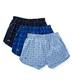 Lacoste Authentics Woven Cotton Boxers - 3 Pack RAMA304