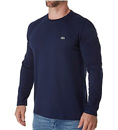 Lacoste Pima Long Sleeve Crew Neck T-Shirt TH6712
