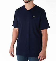 Lacoste Big and Tall Cotton V-Neck T-Shirt TH7508