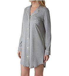 Lauren Ralph Lauren Sleepwear Hammond Knits Long Sleeve Notch Collar Sleepshirt 811950