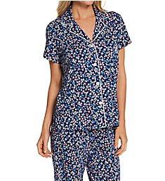 Lauren Ralph Lauren Sleepwear Classic Knits Capri Pant PJ Set 92093