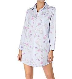 Lauren Ralph Lauren Sleepwear Brushed Twill Long Sleeve Sleepshirt LN31652