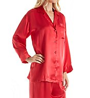 Linda Hartman Classic Hart Long Sleeve Silk PJ Set 51021