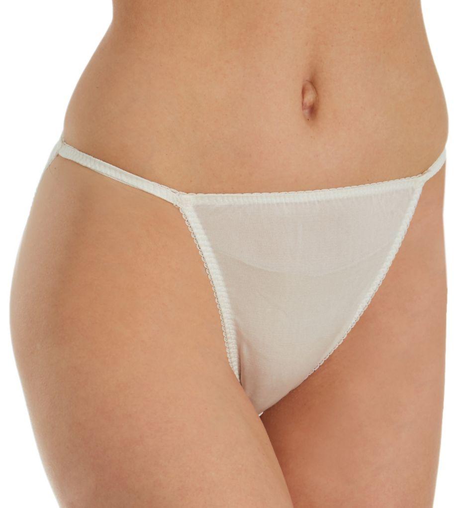 Linda Hartman Silk Knit String Bikini Panty 774012