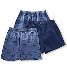 Lucky Fashion Woven Boxers - 3 Pack 183PB09