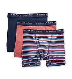 Lucky Core Cotton Boxer Briefs - 3 Pack 201PB06