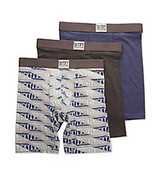 Lucky Cotton Stretch Long Leg Boxer Briefs - 3 Pack 201PB08