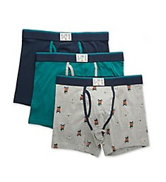 Lucky Cotton Stretch Boxer Briefs - 3 Pack 201QB07