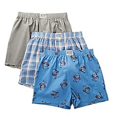 Lucky Cotton Woven Boxers - 3 Pack 201QB09