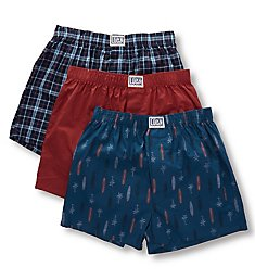 Lucky Cotton Woven Boxers - 3 Pack 201VB09