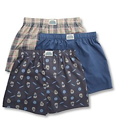 Lucky Cotton Woven Boxers - 3 Pack 213PB09