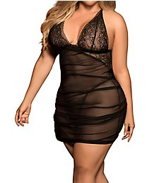Mapale Plus Size Babydoll with Matching G-String 8440X