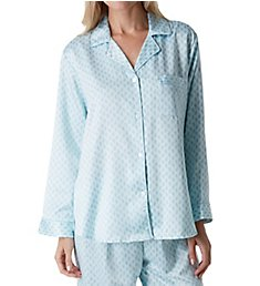 Miss Elaine Brushed Back Satin PJ Set 416107A