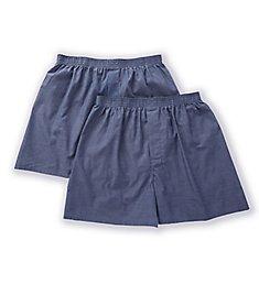 Munsingwear Woven Cotton Blend Open Fly Boxer - 2 Pack KNOMW579