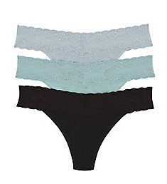 Natori Bliss Perfection One Size Thong - 3 Pack 750092P